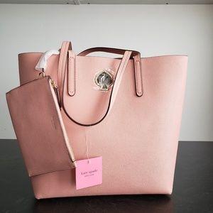 NWT Kate Spade Pink Purse w/Cosmetic Bag